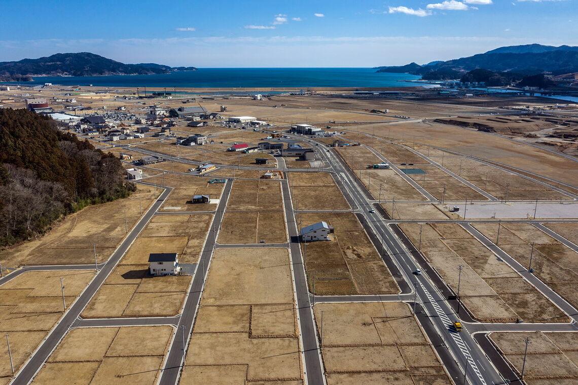 Vom Tsunami 2011 verwüstetes Gebiet in Japan heute