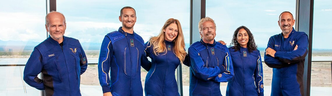 Virgin Galactic, Branson und weitere Astronauten