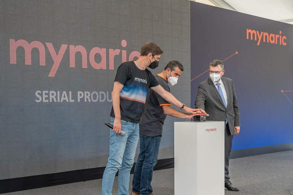 Startschuss der Mynaric-Produktion.