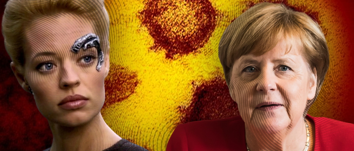 Collage Seven of Nine Angela Merkel
