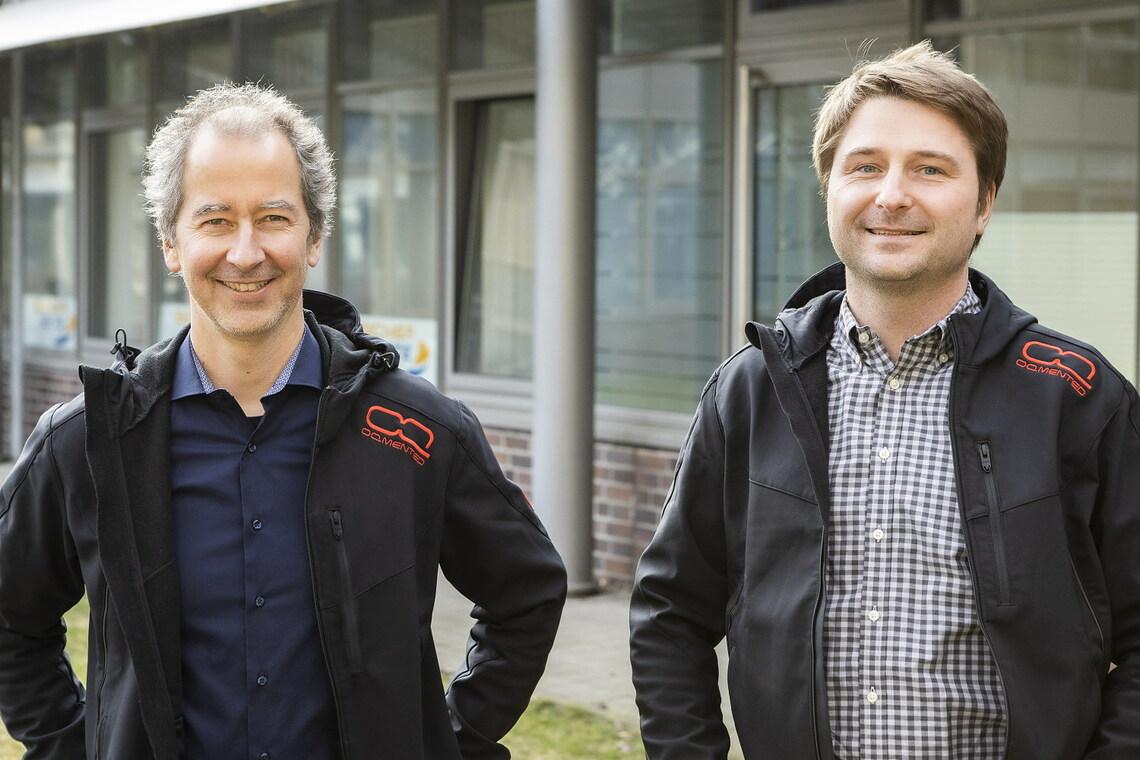 Ulrich Hofmann und Thomas von Wantoch von OQmented.