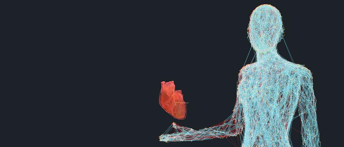 Künstliche Intelligenz zur Verbesserung des digitalen Konzepts des menschlichen Lebens und der Gesundheit