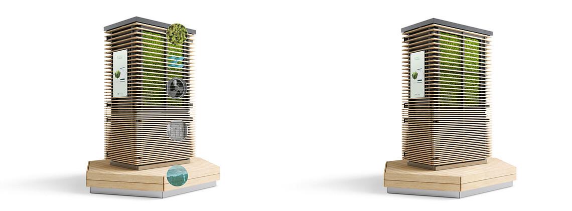 Sie sollen nicht nur saubere Luft liefern, sondern auch zum verweilen einladen. ©Green City Solutions