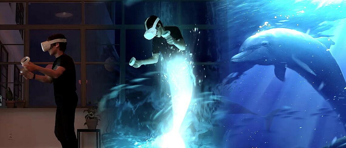 Im VR-Game How ist the Water können Spieler zu Delphinen werden. Bild: How is the Water
