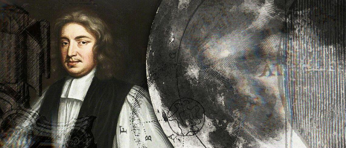Der Mönch John Wilkins. Er hatte gehofft, mit einem Streitwagen den Mond zu erreichen.