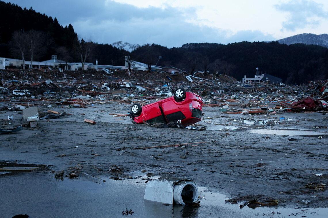 Zerstörungen nach dem Tsunami von 2011 in Japan