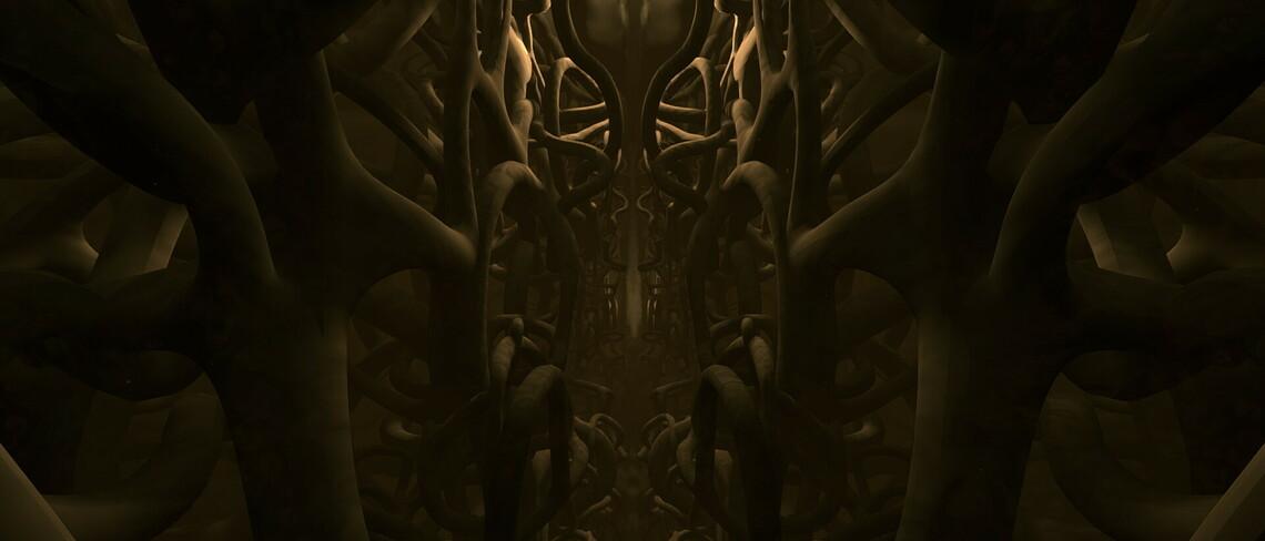 Wie eine Kathedrale erscheint das Gehirn in der VR-Experience, die zwar künstlerisch gestaltet ist, aber sich dennoch an wissenschaftlichen Erkenntnissen orientiert. Bild: Myndstorm