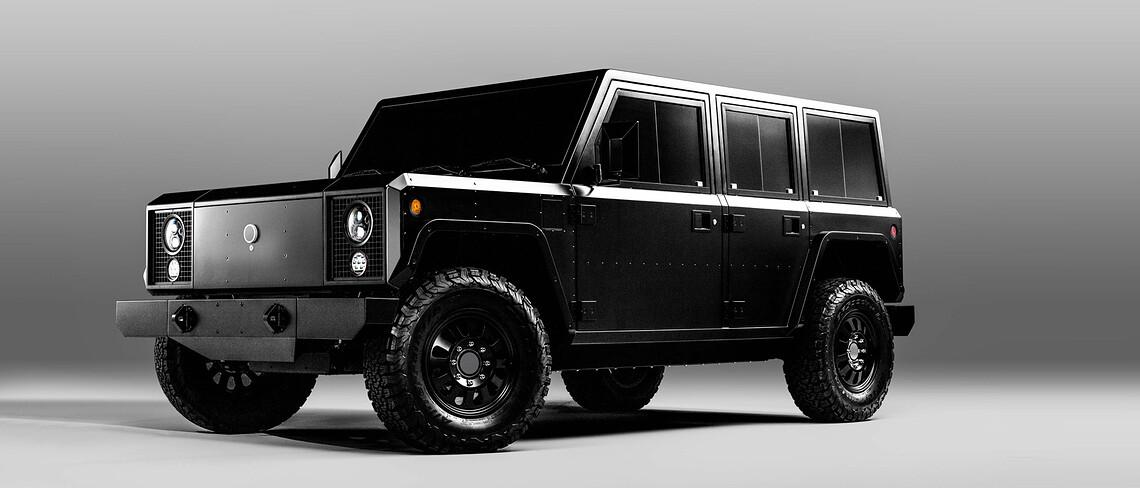 Der Pickup von Bollinger Motors könnte auch vom Militär eingesetzt werden.