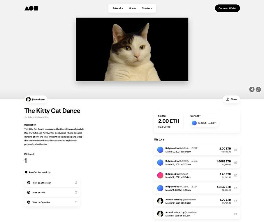 Mit The Kitty Cat Dance hat Steve Ibson ein Meme verkauft, das er in seiner Jugend geschaffen hat.