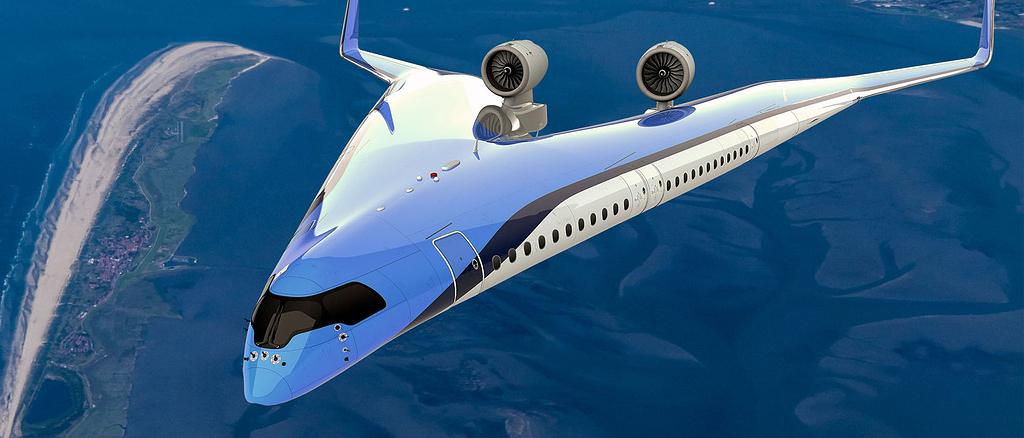 """Das Flugzeug der Zukunft könnte wie ein """"V"""" aussehen"""