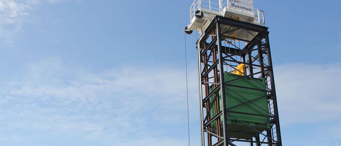 Ein Hubspeicherkraftwerk des Start-ups Gravitricity