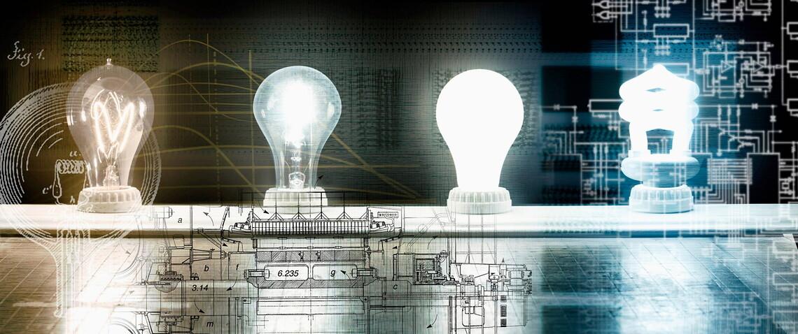Die Evolution der Glühbirne von Thomas Edison zur Energiesparlampe