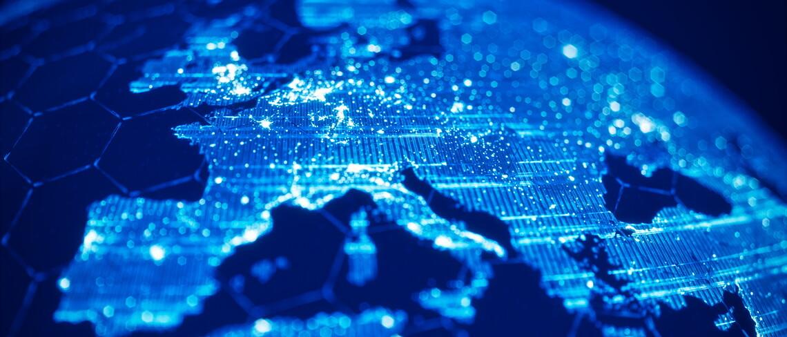 Eine digitale Ansicht von Europa