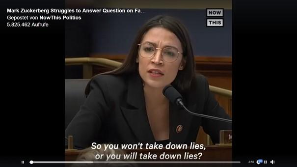Alexandria Ocasio-Cortez befragt Mark Zuckerberg