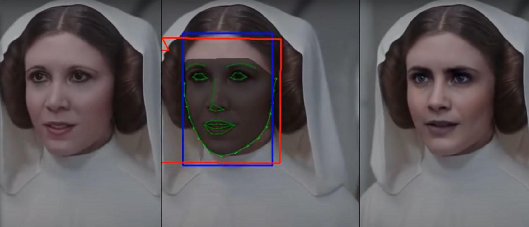 Deepfake von Cara Delevingne als Prinzessin Leia