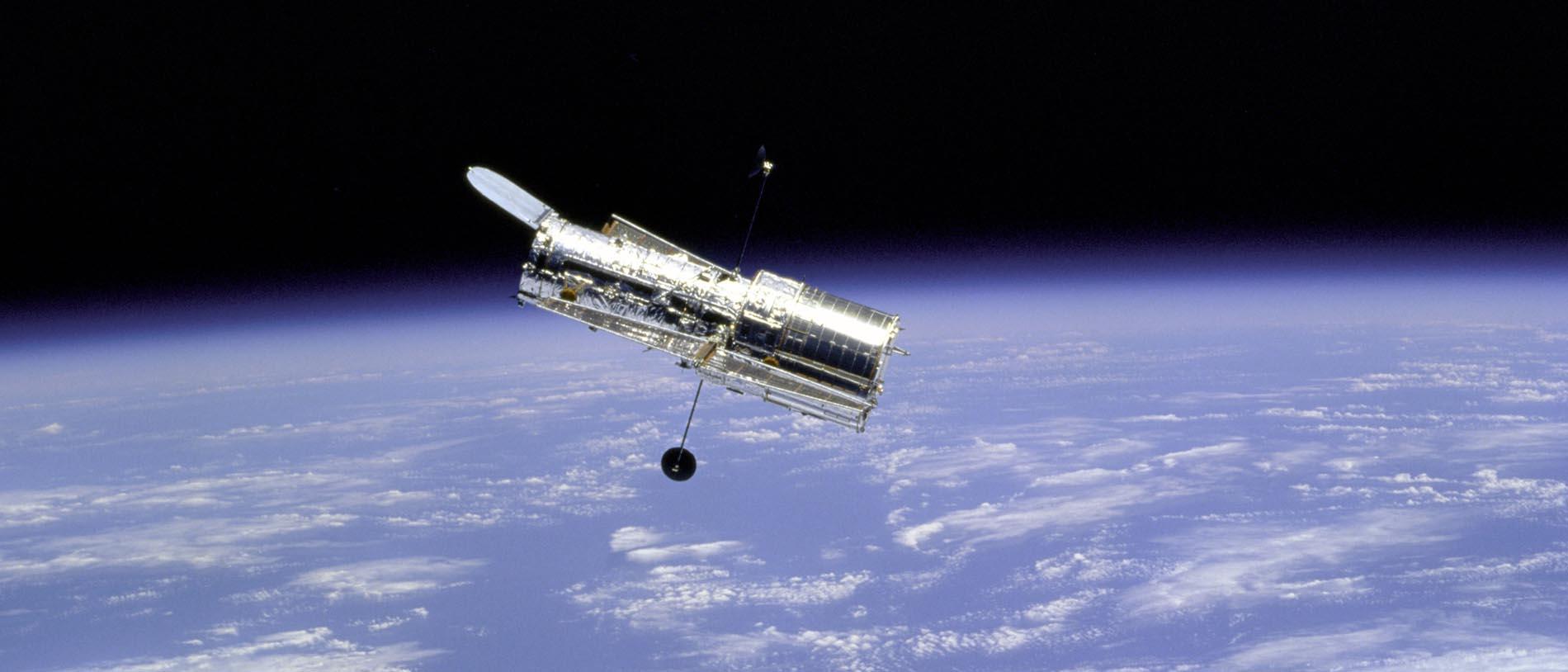 Das Hubble-Weltraumteleskop.
