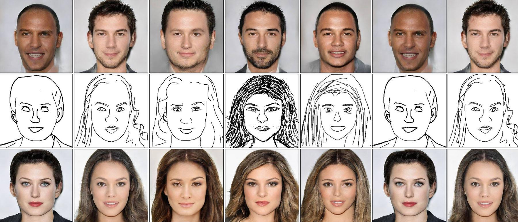 Diese Kunstliche Intelligenz Kann Aus Gekritzel Realistische Gesichter Zeichnen Magazin 1e9