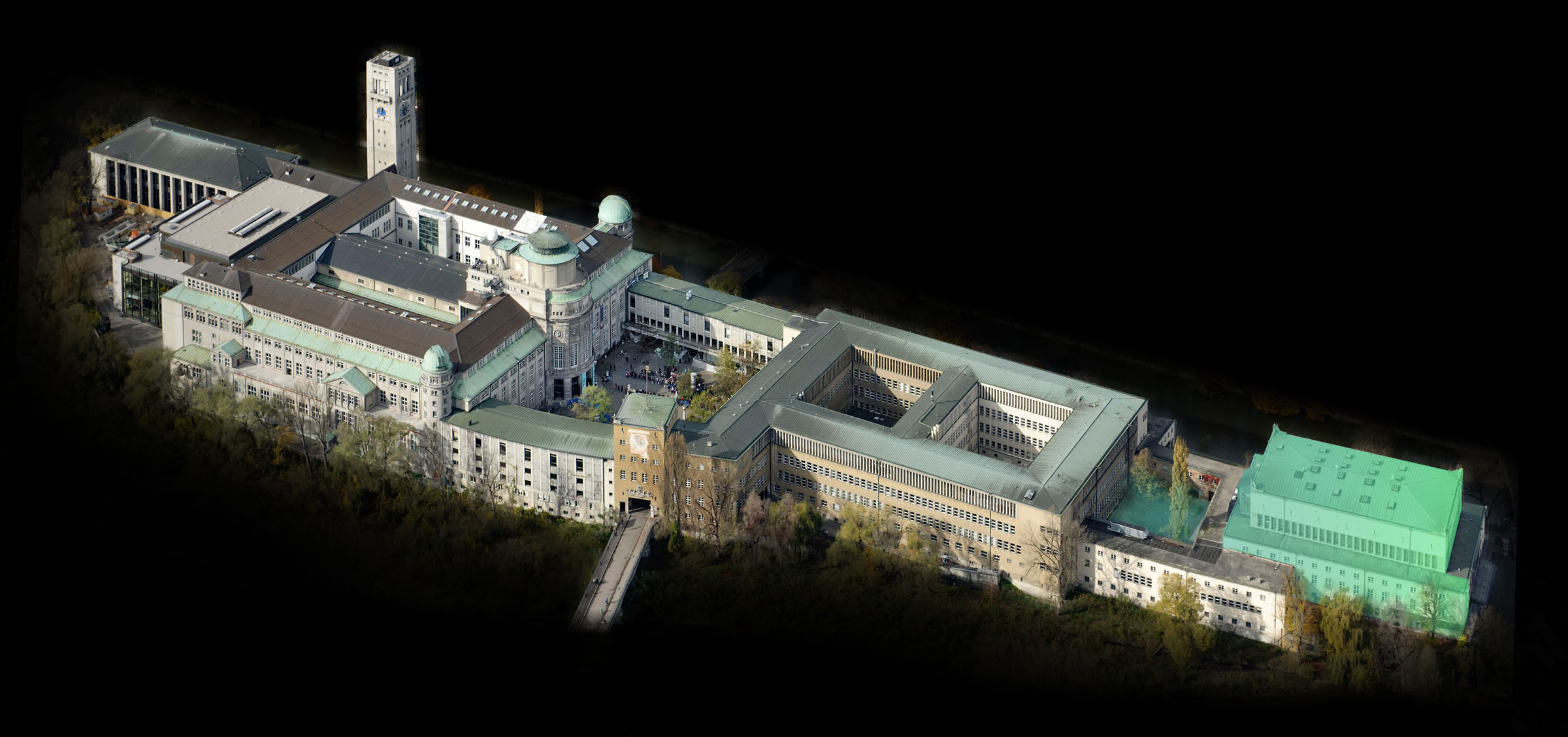 Arial view of Deutsches Museum