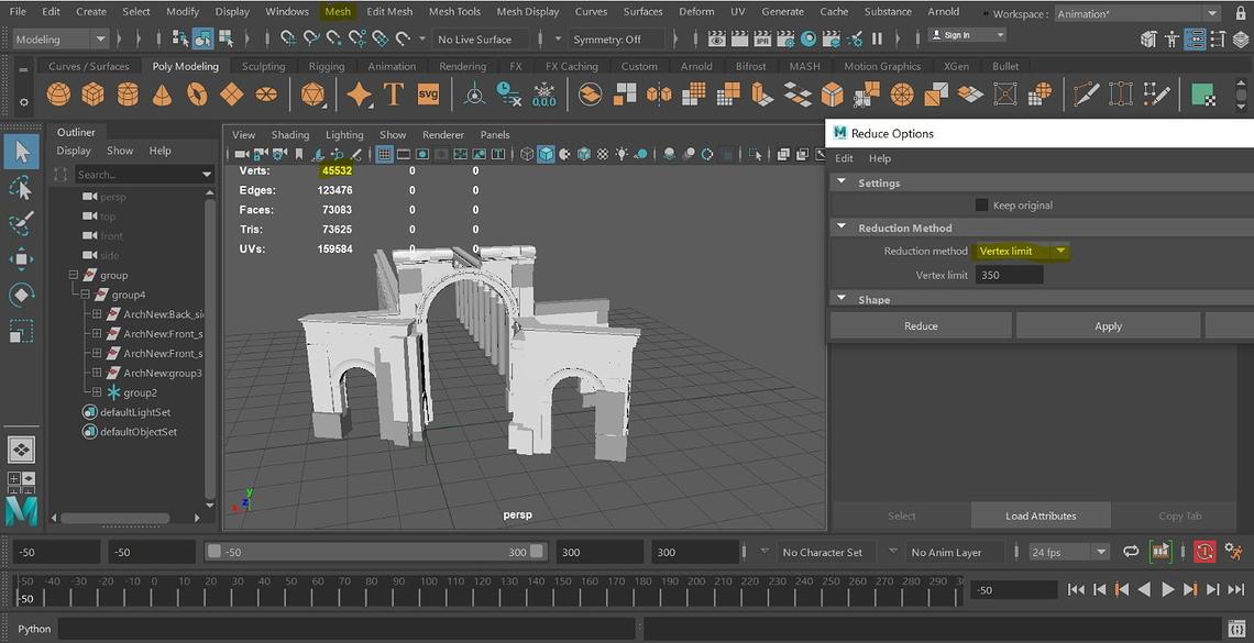 Optimierung des 3D Models
