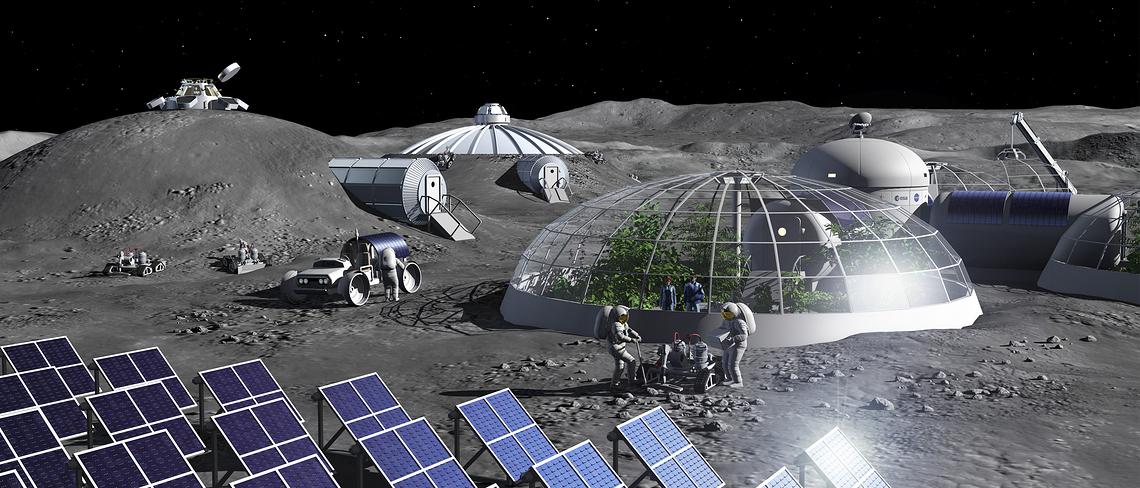 Die ESA arbeitet an einer Anlage, die aus Mondstaub Sauerstoff und Metall gewinnt