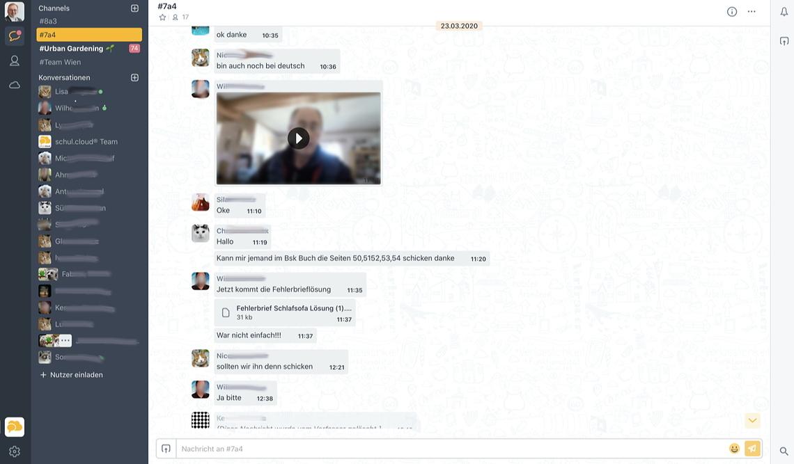 Schul.Cloud Screenshot