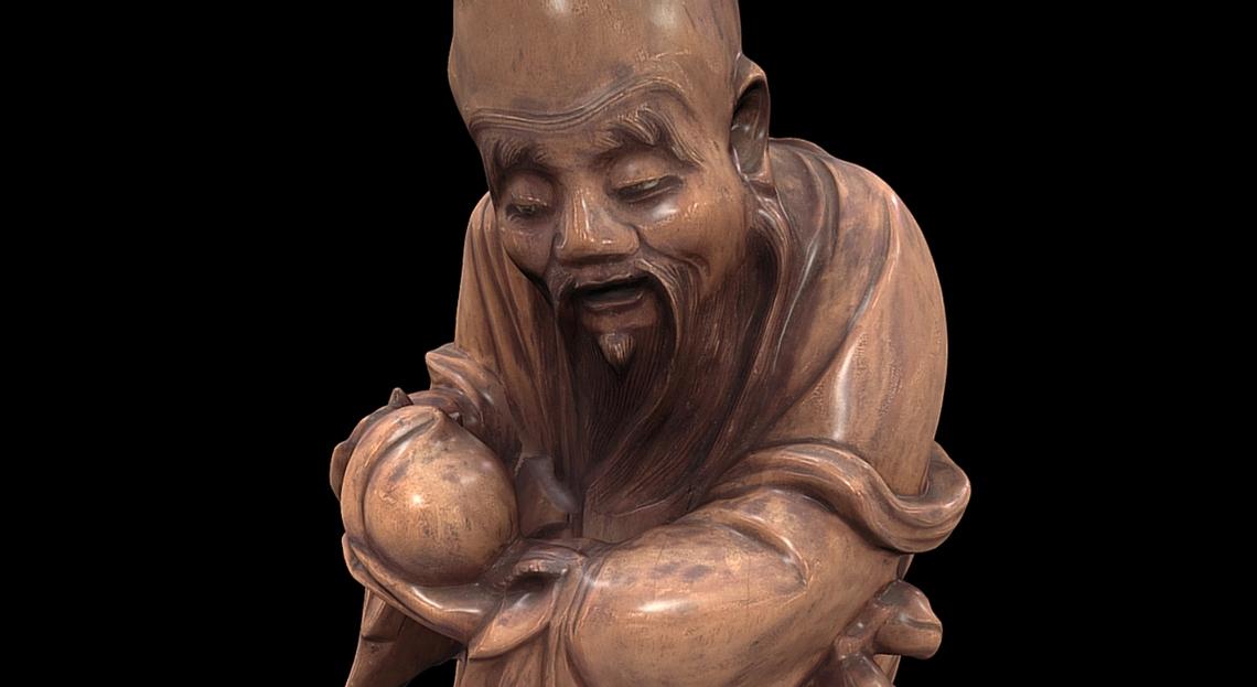 Sketchfab Wooden Statue