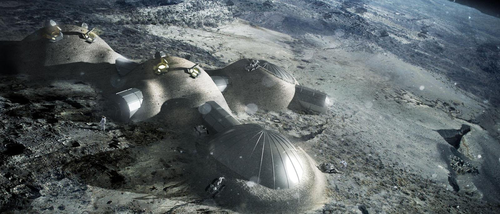 Zukünftige Mondbasen könnten aus Urin-Beton gebaut werden